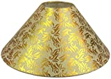 "RDC 13"" Round Cream with Golden Designer Lamp Shade for Table Lamp or Floor Lamp"