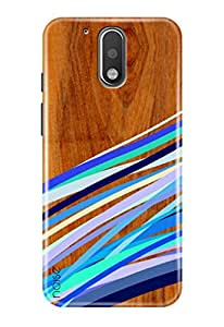 Noise Back Cover Case for Moto G4 Plus (Gen 4) / 4th Generation (Wooden Multi Stripe Print) (GD-337)