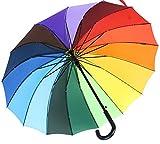 iX-brella long rainbow - hochwertiger Stockschirm 16-teilig mit Automatik -
