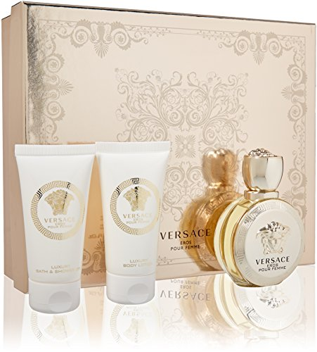 Pour Femme Body Lotion (Versace 595–28562Eros POUR FEMME SET OF Perfume, Duschgel und Body Lotion 150ml)