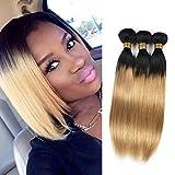 Brasilianische Haare Extensions Human Hair Straight 3 Bundles Ombre Honey Blonde Golden 1b 27 Color Natural Echte 14 16 18 inches