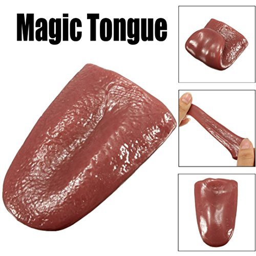 Ningsun casuale giocattoli creativi divertente halloween trick magic terribile giocattoli di simulazione realistico orribile finta lingua e mago puntelli (5.7*3.6*1.2cm)