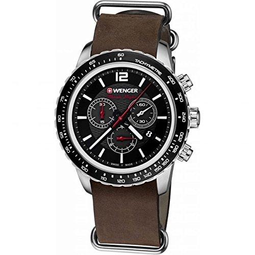 Wenger Roadster Black Night 01.0853.106 - Reloj de pulsera unisex, Negro
