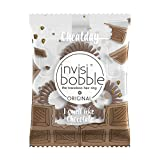 invisibobble ORIGINAL Crazy For Chocolate - Neue Spiralhaargummis mit Schokoladen-Duft, Cheat Day, Süßigkeit, limitiert, 3 Stück