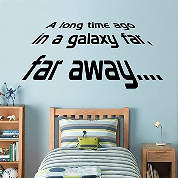 Star Wars A Long Time Ago Wall Decal Art Sticker Boy S Bedroom Playroom Hall Medium Amazon Co Uk Kitchen Home