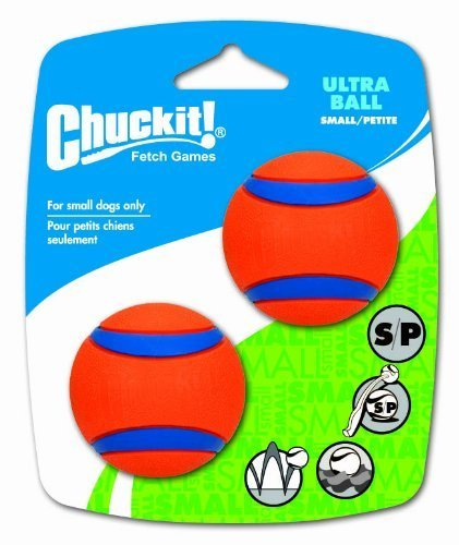 Chuckit! Small Ultra Ball 2-Inch, 2-Pack by Canine Hardware -