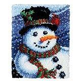 7 Modell Weihnachten Knüpfteppich für Kinder und Erwachsene zum Selber Knüpfen Teppich Latch Hook Kit child Rug Christmas102 50 by 38 cm