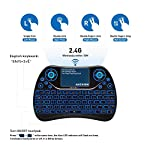 ANEWISH-Mini-Clavier-sans-Fil-Wireless-Keyboard-avec-Souris--Pav-TactileRtro-clair-par-LED-7-CouleursRechargeablepour-PCOrdinateur-PortableHTPCSmart-TVprojecteurPS4Android-TV-Box