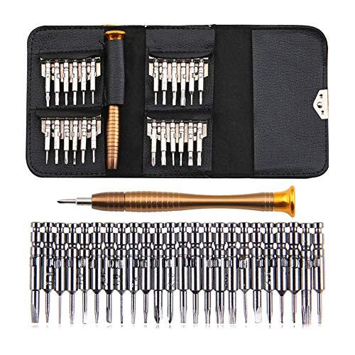 Zreal 25pcs Lot de Mini kit Outil de précision de réparation Tournevis Portable pour Lunettes...