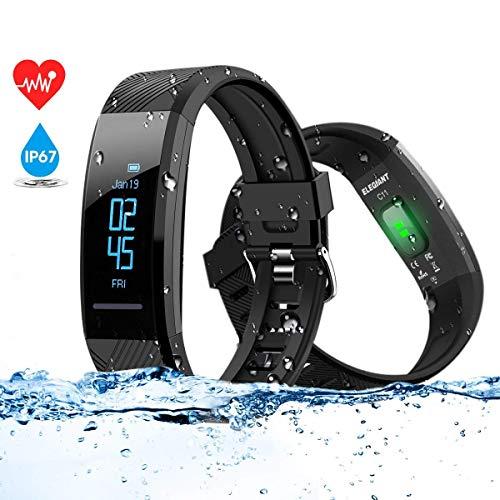 ELEGIANT Pulsera de Actividad Inteligente Reloj Deportivo IP67 para Hombre Mujer con...