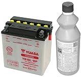 MIM Distribution Batteria Yuasa YB10L-BP 12 V - 11 Ah per Piaggio Beverly 500 2002-2006 con Acido A CORREDO per Piaggio-Beverly 500 dal 2002 Fino al 2006