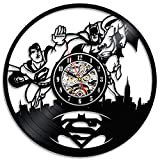 Gullei.com Superman vs Batman Vinilo Disco Reloj de Pared decoración