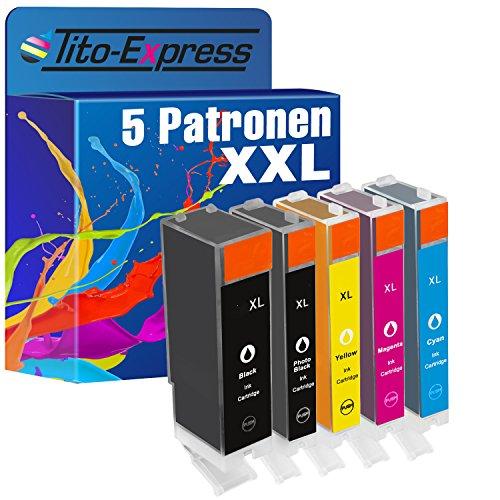 Preisvergleich Produktbild PlatinumSerie® 5x Patrone kompatibel für Canon PGI-570 XL & CLI-571 XL Pixma MG 5700 Series MG 5750 Series MG 5750 MG 5751 MG 5752 MG 5753 MG 6800 Series MG 6850 Series MG 6850