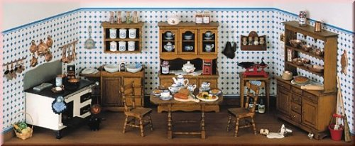 Alter Herd (Geschenkpackung alte Küche ohne Herd für das Puppenhaus, Bausatz)