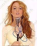 Lindsay Lohan - 14 - Sexy Photo Autograph Autographed photo Signed Autogramm Reprint cm 17 * 13 RP 6