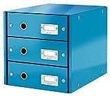 Leitz 60480036 Click&Store Cassettiere, Colore Blu, 3 cassetti
