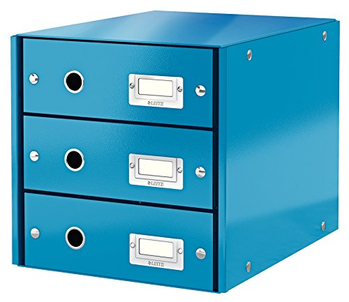 Leitz, Schubladenbox, Blau, 3 Schubladen, A4, Click & Store, 60480036