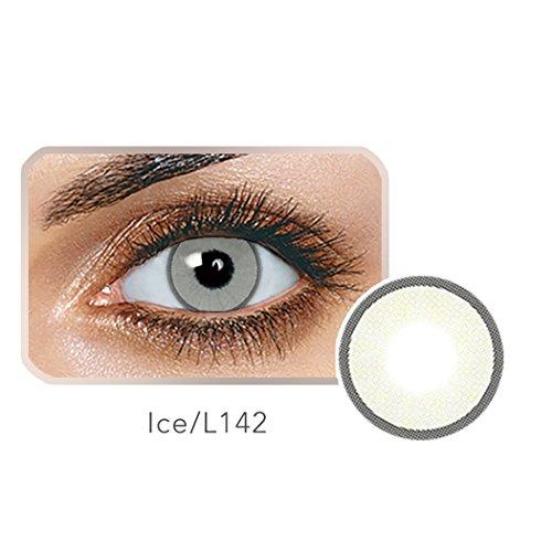 Edited Farbige Kontaktlinsen 1 Paar (2 Stück) Ohne Stärk - Jahreslinsen - Durchmesser: 14.20mm - Verschiedene Farben - Krümmungsradius: 8.60° - Wassergehalt: 38% - Angenehm zu Tragen (Ice)