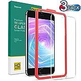 Deyooxi 3 Pezzi Vetro Temperato per iPhone 6 Plus/iPhone 6s Plus/iPhone 7 Plus/iPhone 8 Plus,Pellicola Protettiva in Vetro Temperato Screen Protector Film,Protezione Schermo,Anti-graffio
