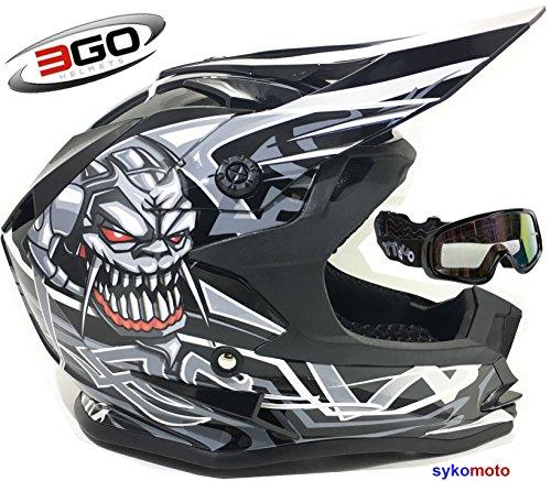 3GO X10-K NIÑOS CRÁNEO DISEÑO MOTOCROSS QUAD ATV ENDURO OFF...