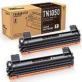 STAROVER 2x TN1050 TN-1050 Cartouches De Toner Noir Compatible Pour Brother HL-1110 DCP-1510 HL-1210W DCP-1610W HL-1112 MFC-1810 HL-1212W MFC-1910W DCP-1612W DCP-1512 Imprimante(1500 Pages/Toner)