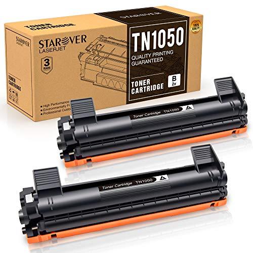 STAROVER 2x TN1050 TN-1050 Cartuccia Del Toner Nero Sostituire Per Stampante Brother HL-1110 DCP-1510 HL-1210W DCP-1610W HL-1112 MFC-1810 HL-1212W MFC-1910W DCP-1612W DCP-1512,1500 pagine