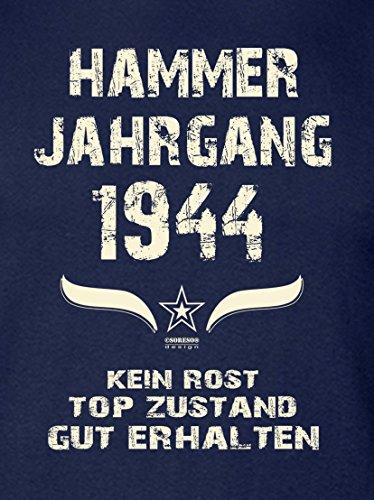 Geburtstags-Geschenk T-Shirt Herren Übergrößen Hammer Jahrgang 1944 Geschenk zum 73. Geburtstag Freizeitlook Männer Papa Farbe: schwarz Navy-Blau