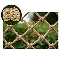 Hemp Rope Net Stair Railing Net Goods Net Child Safety Net Rope Garden Decoration Net Stair Balcony Safe Net Plant Fence Protection Net Indoor Outdoor Garden Goods Net Multi-size Multi-Purpose