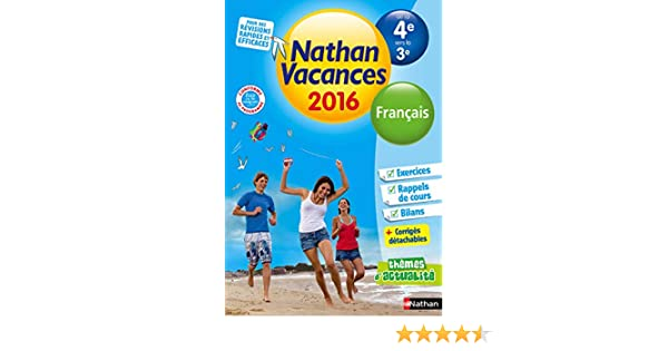 Amazon Fr Nathan Vacances College De La 4e Vers La 3e