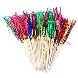 40x Milopon Cocktailspieße Toothpicks Cocktail Picks Bambus Toothpicks Partyspieße Feuerwerk