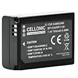 Cellonic Qualitäts Akku für Samsung NX500 NX300 NX300M NX1000 NX2000 NX1100 NX200 NX210 NX310 (750mAh) BP1030/BP1130 Ersatzakku Batterie