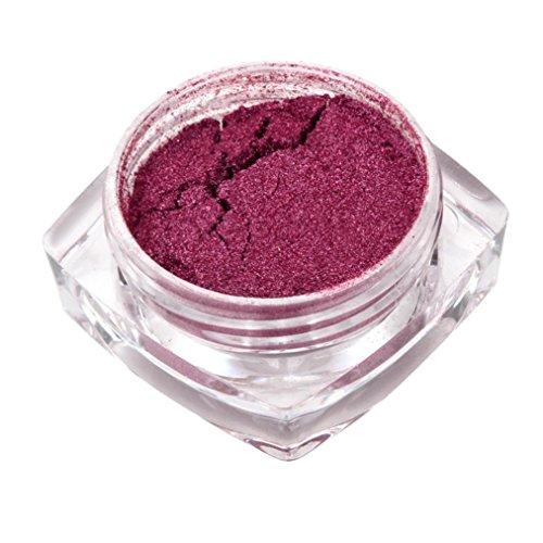 OHQ Miroir En Or Rose 2G Poudre De Miroir De Poudre D'Or De Poudre De Chrome De Miroir D'Ongle D'Or De Rose (Violet)