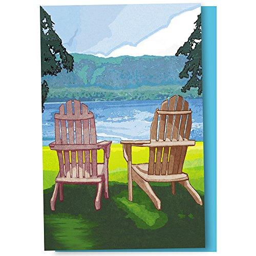 Adirondack-set (Tree Free Grußkarten 56094 12 Stück Adirondack-Stuhl Karteikarten-Set)
