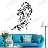 Mode Styling Fille Stickers Muraux Amovibles pour Salon De Beauté Windows Vinyle...