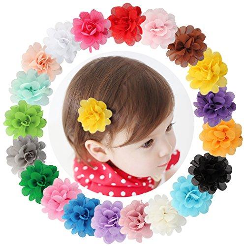 0Stück, Chiffon-Blumen, Haarspangen ()