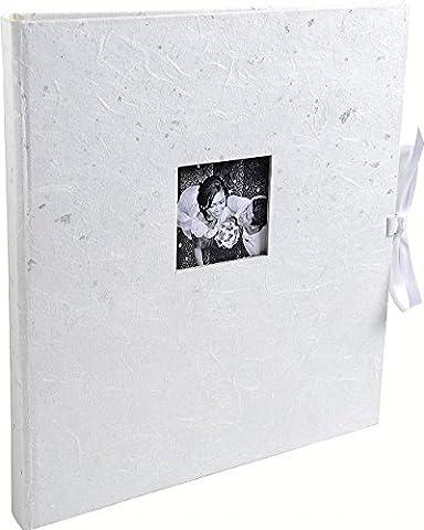 Exacompta 16811E First Love Album Photos Livre 60 Pages Carton/Papier Blanc Paillettes Argent 32 x 29 x 4,5 cm