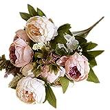 Leisial Ramo de Novia de Flores Artificiales Peonía Seda