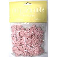 Idea bomboniere: Set di 144 rose - roselline - chiudi pacco colore rosa per composizioni