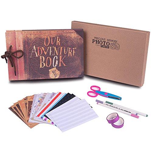 Nuestro libro de aventuras con caja de regalo, el mejor álbum de fotos para manualidades de 80 páginas, álbum de fotos para boda, álbum de fotos para pareja, niños, regalo de agradecimiento, regalo de Navidad