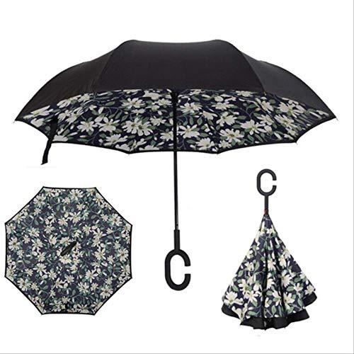rchlässiger umgeklappter doppelter Schicht-umgekehrter Regenschirm-Selbststandplatz-Regenschirm/Sonne Frauen/Männer Qualitäts-Kind langlebiges Gut als pic ()