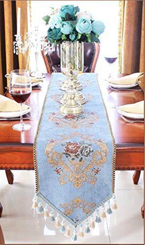 Tischläufer Navy Blaues Dreieck Handgemachten Europäischen Stil Rechteckige Vintage Tabelle Runner...