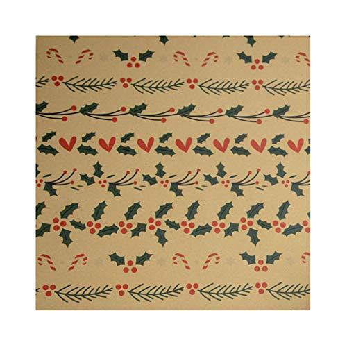 Bunt Geschenkbox Geschenkpapier 3 Rollen Weihnachtszeitung Weihnachtsdekoration Geburtstag Feier Paper Weihnachten Geschenkpapier Kraftpapier Artware Verpackung Paket Papierweihnachtspackpapier