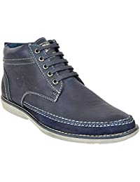 Lee Grain Pure Leather Blue Casual Shoe