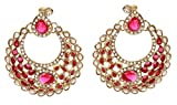 Maisha's Classic Pink Crescent Chandbali...