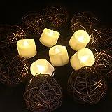 Benvo LED flammenlose Kerzen, 3.8cm elektrische flackernde batteriebetriebene teelichter, LED votivkerzen warme weiße, 12 Pack - 2