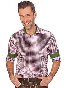 Trachtenhemd mit Langem Arm - Valentin - Beere