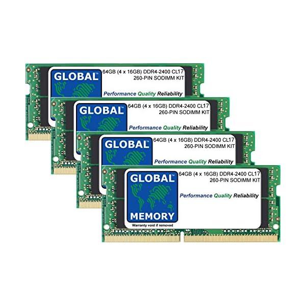 64GB (4 x 16GB) DDR4 2400MHz PC4-19200 260-PIN SODIMM MEMORY RAM KIT FOR INTEL IMAC 27″ RETINA 5K (2017) 51ea3vWeVKL