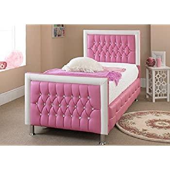 New small double pink leather bed new exclusive design kitchen home - Testiere letto ikea ...