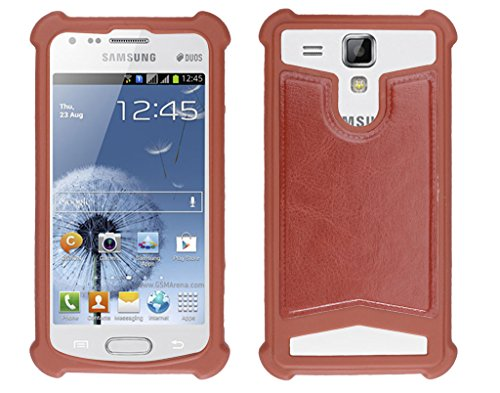 Shopme Shock proof,Silicon,Premium PU Leather Back cover for Samsung Galaxy S Duos (Brown Color) (Special Anti Shock Bumpers on all four sides , 360 degress Protection, Access to all Ports)  available at amazon for Rs.199