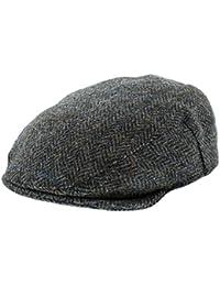 5dc31948 Failsworth Harris Tweed 'Stornoway' Flat Cap (Navy/Grey Pattern.2012)
